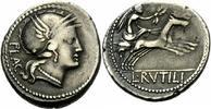 Denar 77 v. Chr. Rom Republik Rutilius Flaccus Denar Rom 77 Roma Helm V... 175,00 EUR  +  6,00 EUR shipping