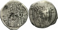 Serbien Dinar NM Serbien Zar Stefan Uros IV Dusan Dinar Helena Christus Mandorla Serbia 11.36