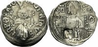 Serbien Dinar NM Serbien Zar Stefan Uros IV Dusan Dinar Helm Imperator Countermark Swan Serbia