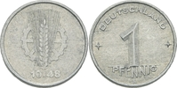 1 Pfennig 1948 DDR DDR Deutschland 1 Pfennig 1948 A Berlin Aluminium SS... 1,50 EUR  zzgl. 1,00 EUR Versand