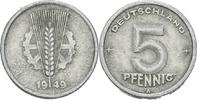 5 Pfennig 1949 DDR DDR Deutschland 5 Pfennig 1949 A Berlin Aluminium S ... 0,50 EUR  zzgl. 1,00 EUR Versand