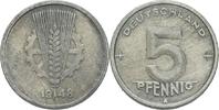 5 Pfennig 1948 DDR DDR Deutschland 5 Pfennig 1948 A Berlin Aluminium S ... 0,75 EUR  zzgl. 1,00 EUR Versand