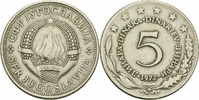 5 Dinar 1972 Jugoslawien Jugoslawien 5 Dinara 1972 Cu-Ni Socialist Fede... 0,15 EUR  zzgl. 1,00 EUR Versand