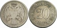 20 Para 1883 Serbien Serbien Milan I Obrenovic 20 Para 1883 Kupfer-Nick... 1,50 EUR  zzgl. 1,00 EUR Versand