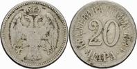 20 Para 1884 Serbien Serbien Milan I Obrenovic 20 Para 1884 H Birmingha... 2,00 EUR  zzgl. 1,00 EUR Versand